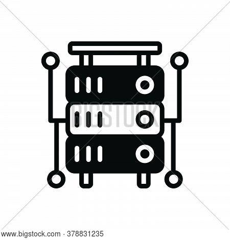 Black Solid Icon For Database Storage Database-interconnected Database Interconnected Application Do