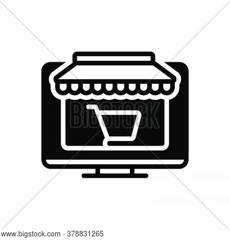 Black Solid Icon For Ecommerce Shopping Shop Online Purchase Digital-marketing Shopping-cart Optimiz