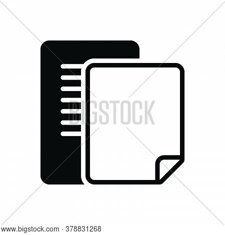 Black Solid Icon For Document Pagenumber Count Number Pagination Scenarios Script Letter Manuscript