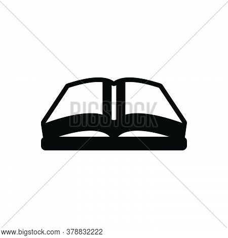 Black Solid Icon For Open-book Open Book Magazine Library Textbook Publication Encyclopedia Educatio