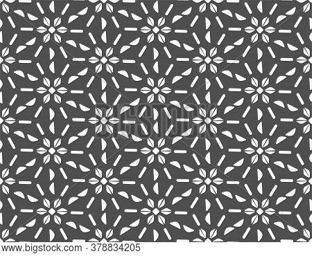 Repeat White Vector Thirties Art Pattern. Repetitive Black Graphic Plexus Texture Texture. Continuou