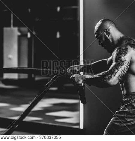 Doing Exercises With Rope