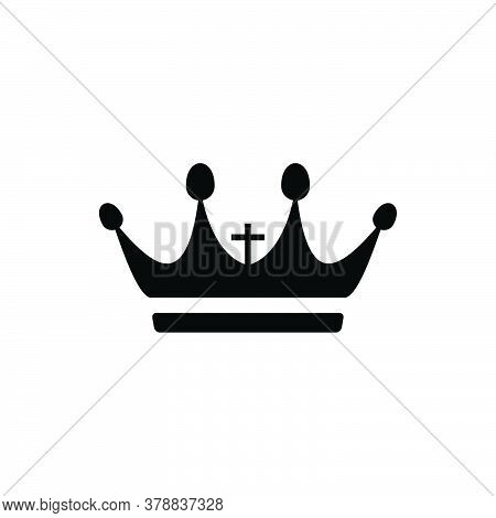 Crown Icon Vector. Crown Icon Isolated On White Background. Crown Icon Trendy And Modern Crown Symbo