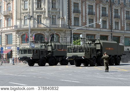 Moscow, Russia - June 20, 2020:self-propelled Command Post Of Control And Communications Of The Coas