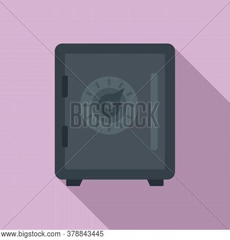 Money Loan Strongbox Icon. Flat Illustration Of Money Loan Strongbox Vector Icon For Web Design