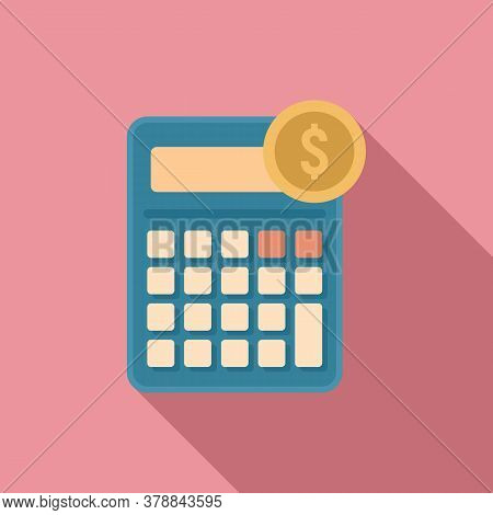 Online Loan Calculator Icon. Flat Illustration Of Online Loan Calculator Vector Icon For Web Design