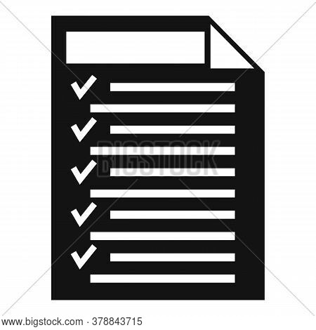 Check Document Online Loan Icon. Simple Illustration Of Check Document Online Loan Vector Icon For W