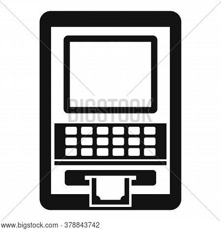 Atm Money Online Loan Icon. Simple Illustration Of Atm Money Online Loan Vector Icon For Web Design