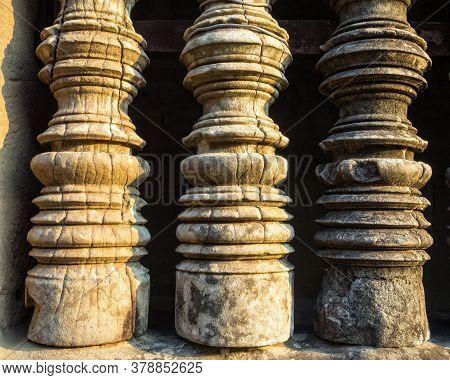 Carved Balusters At Angkor Wat - Siem Reap, Cambodia