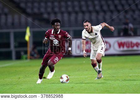 Torino (italy). 29th July 2020. Italian Serie A. Torino Fc Vs As Roma.temitayo Aina  Of Torino Fc