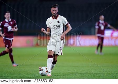 Torino (italy). 29th July 2020. Italian Serie A. Torino Fc Vs As Roma.bryan Cristante Of  As Roma  .