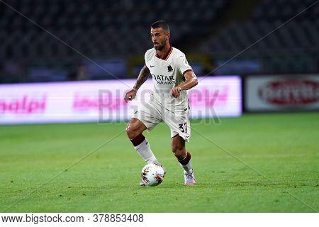 Torino (italy). 29th July 2020. Italian Serie A. Torino Fc Vs As Roma.leonardo Spinazzola Of  As Rom