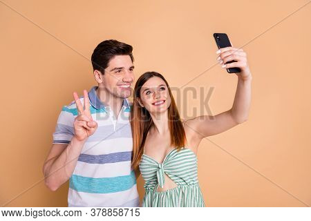 Portrait Of His He Her She Nice Attractive Lovely Pretty Cheerful Cheery Couple Friends Friendship T