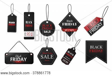 Black Friday Tag. Set Of Tags And Labels With Text For Black Friday Sales.