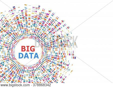 Big Data Infographic. Dna Test, Barcoding, Genom Map Architecture. Molecule Structure Genetic Test.