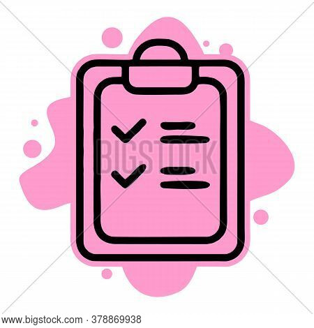 Checklist Icon Isolated On White Background From Covid Collection. Checklist Icon Trendy And Modern