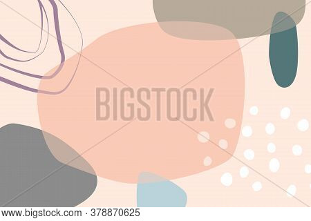Abstract Background With Copy Space, Colored In Overlap Style. Trendy Colors And Shapes.