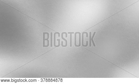 Silver Simple Fabric Silk Texture Background. Textured Satin White Background. 3d Rendering.
