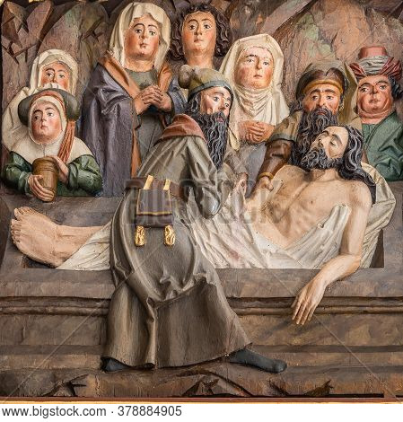 Entombment Of Christ, An Altar-piece From The Beginning Of The 16th Century, Hagested, Denmark, July