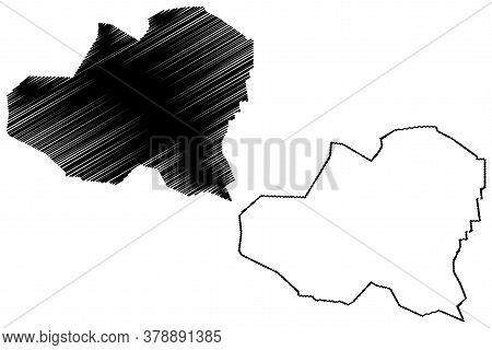 Homs City (syrian Arab Republic, Syria, Homs Governorate) Map Vector Illustration, Scribble Sketch C