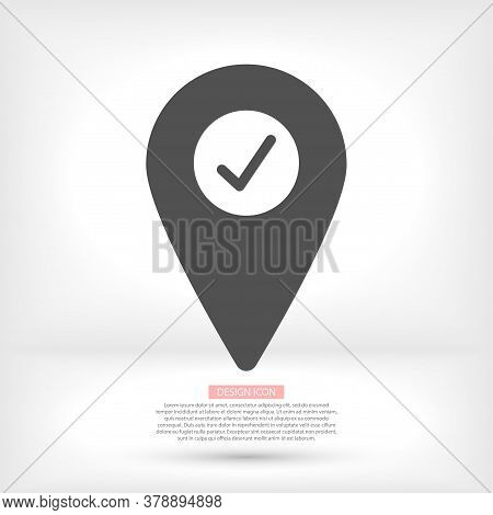 Map Localization Icon. Lorem Ipsum Flat Design Jpg