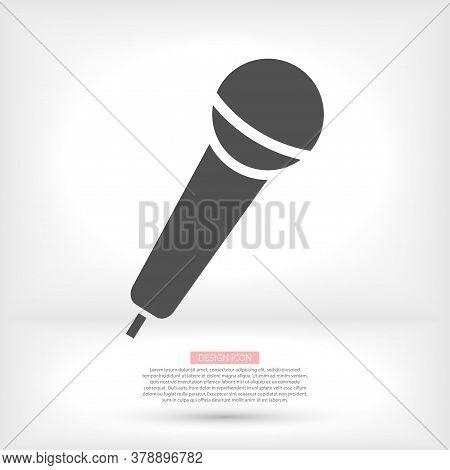 Microphone . Icon Microphone . Vector Microphone 10 Episode . Lorem Ipsum Flat Design Jpg Microphone
