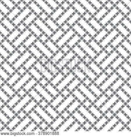 Seamless Pattern. Modern Simple Texture. Regularly Repeating Elegant Geometrical Tiles With Crosses,