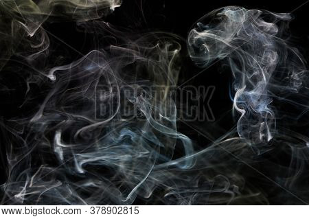 Transparent Abstract Smoke Lines