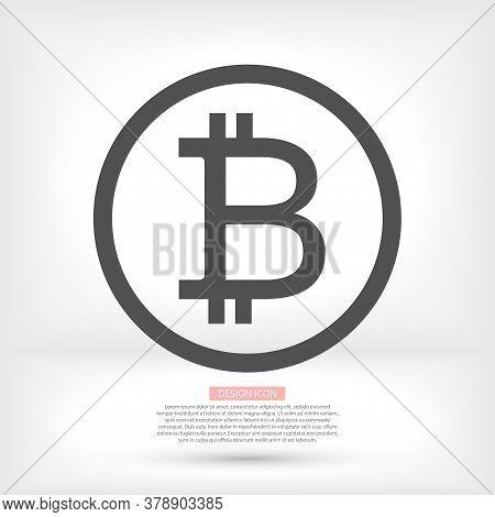 Bitcoin Icon . Vector Bitmain . Illustration Bitcoin . 10 Eps Bitcoin . Simple Image Bitcoin