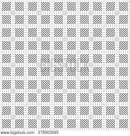 Plaid Seamless Pattern. Classical Tablecloth Texture. Checkered Fabric Background. Regularly Repeati