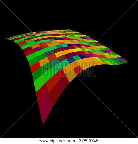 Abstract floating gird of colours