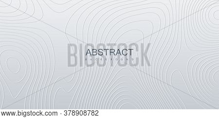 Topography Relief. Abstract Background. Vector Minimal Illustration. Liquid Shapes. Outline Cartogra