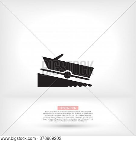 Motorboat Vector Icon On White Background. Vector Icon Flat Vector Motorboat Icon Symbol Sign From V
