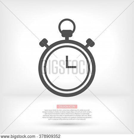 Clock Vector Icon. Vector Icon Illustration Of Time. Website, User Interface 24 Hours Sign Vector Ic