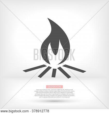 Outline Bonfire Vector Icon. Bonfire Illustration For Web, Vector Icon Mobile Apps, Design. Vector I