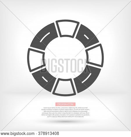 Life Ring Vector Icon, Sea Life Ring Symbol. Modern, Simple Flat Vector Illustration For Web Site Or
