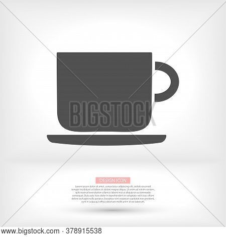 Cup With Tea Vector Icon Bag Symbol Icon Vector Illustration Eps 10 On White Background Vector Icon