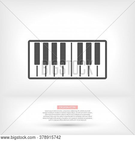 Top View Grand Piano Vector Icon. Outline Top View Grand Piano Vector Icon For Web Design Isolated V