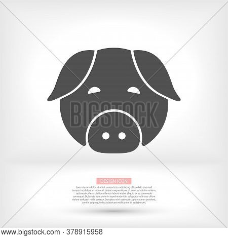 Pig Vector Icon. Pig Vector Illustration Vector Pig Sticker Icon For Boutiques Sale Icon Vector Shop