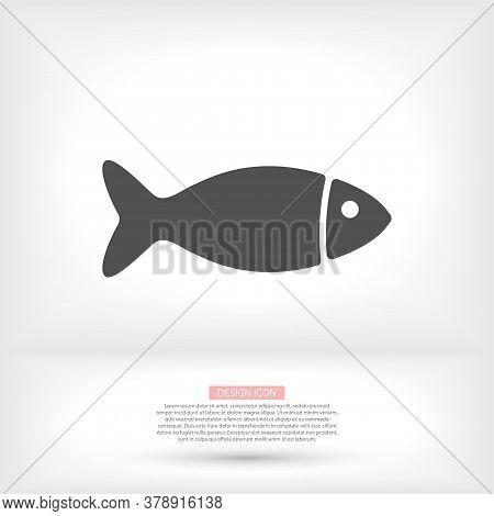 Fish Vector Icon Isolated, Aquarium Fish Silhouette Illustration.vector Icon Colorful Cartoon Vector