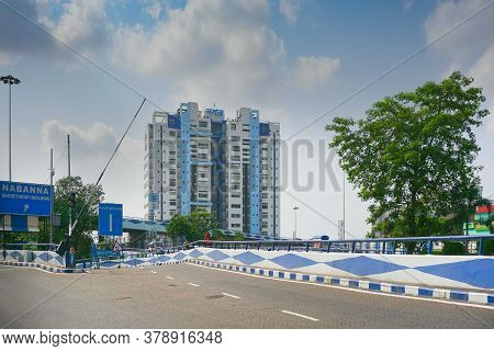 Howrah, West Bengal, India - May 23rd 2020 : View Of Nabanna Building In Howrah, State Administrativ