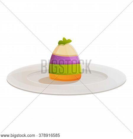 Cheesecake Molecular Cuisine Icon. Cartoon Of Cheesecake Molecular Cuisine Vector Icon For Web Desig