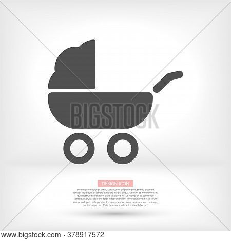 Baby, Carriage, Buggy, Pram, Vector Icon Stroller, Wheel Vector Icon. Vector Icon Illustration, Flat