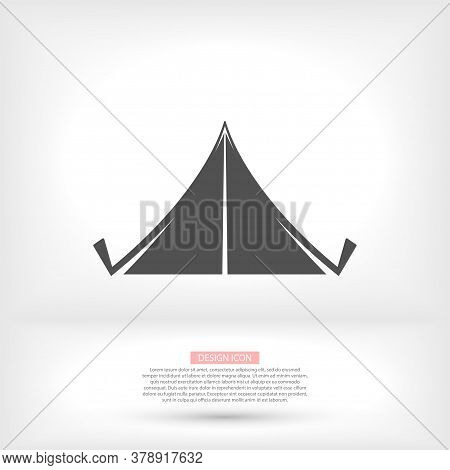 Circus Pattern. Vector Icon. Invitation To The Event, Presentation. Circus Building, Circus Tent Hou