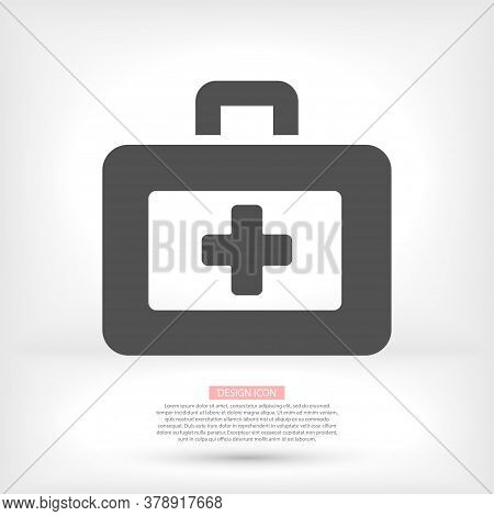 First Aid Icon In Trendy Flat Style. Logo, Application, User Interface. Vector Illustration