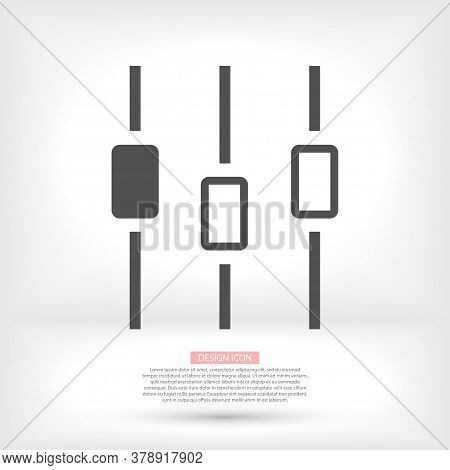Filter Control Settings Isolated Minimal Icon In Black And White Colors. Line Vector Icon For Websit