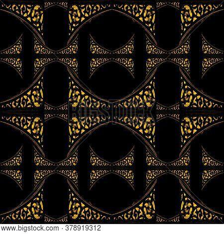 Dark Ornate Seamless Pattern Background
