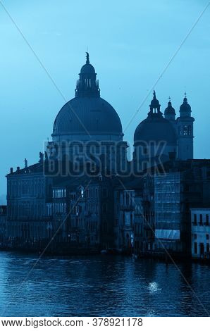 Church Santa Maria della Salute and Grand Canal view, Venice, Italy.