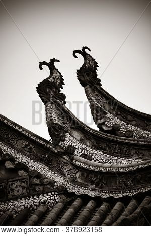 Old building roof in Chongqing Huguang assembly hall old buildings