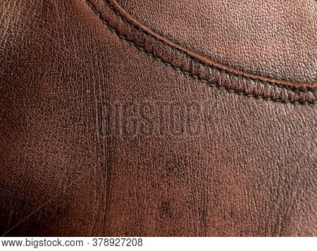 Leather Background. Brown Luxury Leather Texture Backdrop